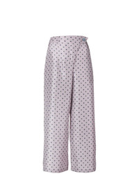 Pantalon large imprimé violet clair Christian Wijnants