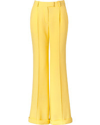 Pantalon large jaune