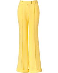 Pantalon large jaune