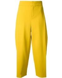 Pantalon large jaune Chloé