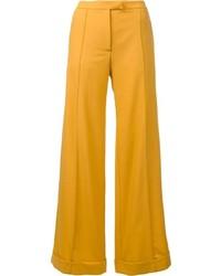 Pantalon large jaune Nina Ricci