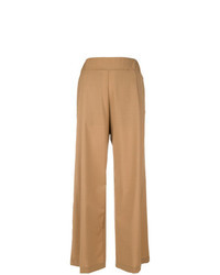 Pantalon large marron clair
