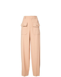 Pantalon large marron clair Chloé