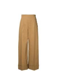 Pantalon large marron clair Le Ciel Bleu