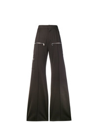 Pantalon large marron foncé Chloé