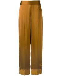 Pantalon large marron Maison Margiela