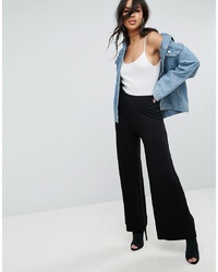 Pantalon large noir ASOS DESIGN