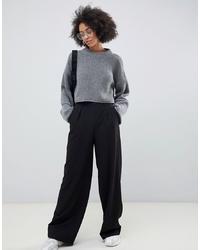 Pantalon large noir ASOS DESIGN