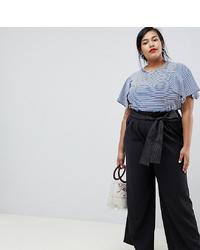 Pantalon large noir Current Air Plus