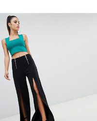 Pantalon large noir Parallel Lines