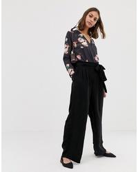 Pantalon large noir Pieces