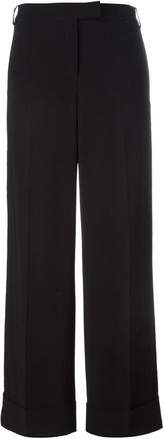 Pantalon large noir Salvatore Ferragamo