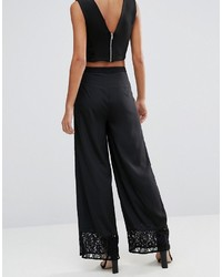 Pantalon large noir Warehouse