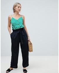 Pantalon large noir Vero Moda