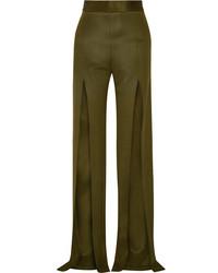 Pantalon large olive Balmain