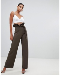 Pantalon large olive In The Style