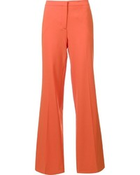 Pantalon large orange Diane von Furstenberg