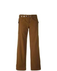 Pantalon large orné marron Romeo Gigli Vintage