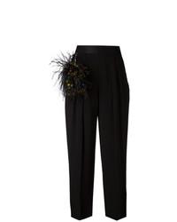 Pantalon large orné noir Christopher Kane