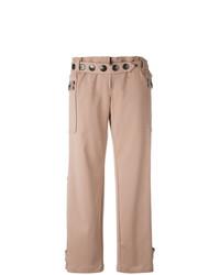 Pantalon large orné rose Romeo Gigli Vintage