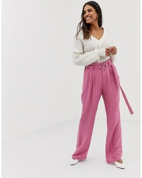 Pantalon large rose Vila
