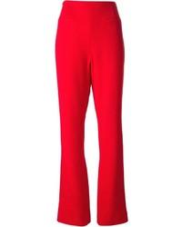 Pantalon large rouge Jean Louis Scherrer