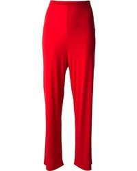 Pantalon large rouge Missoni