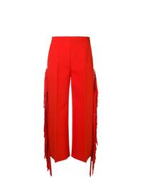 Pantalon large rouge MSGM