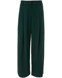 Pantalon large vert foncé