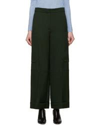 Pantalon large vert foncé Nina Ricci