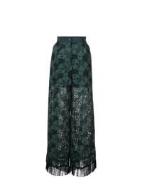 Pantalon large vert foncé Sacai