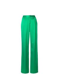 Pantalon large vert ATTICO