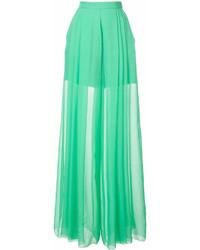 Pantalon large vert DELPOZO