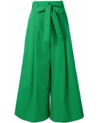 Pantalon large vert Krizia