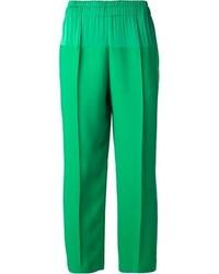 Pantalon large vert Lanvin