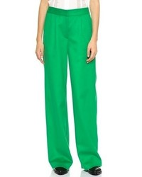 Pantalon large vert Lisa Perry
