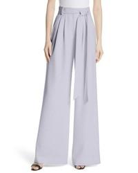 Pantalon large violet clair