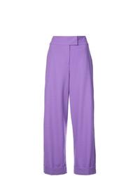 Pantalon large violet clair Dvf Diane Von Furstenberg