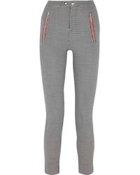 Pantalon slim à carreaux noir et blanc Isabel Marant