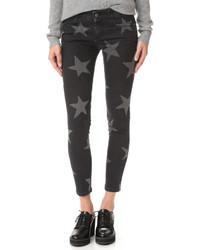 Pantalon slim à étoiles noir Stella McCartney