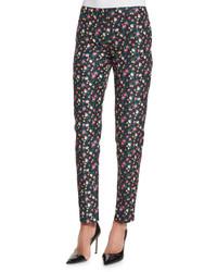 Pantalon slim a fleurs original 4264311