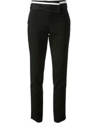 Pantalon slim à rayures horizontales noir et blanc A.L.C.