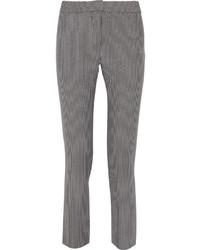 Pantalon slim à rayures verticales gris
