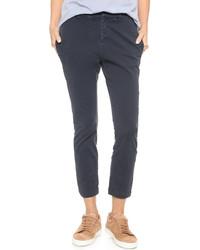 Pantalon slim bleu marine Nili Lotan