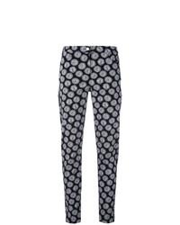 Pantalon slim brodé noir et blanc D-Exterior