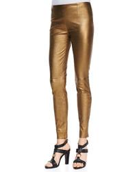 Pantalon slim doré
