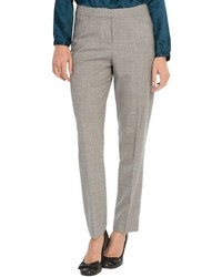 Pantalon slim écossais gris