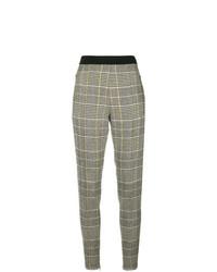 Pantalon slim écossais gris Ermanno Scervino