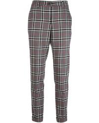 Pantalon slim écossais gris P.A.R.O.S.H.