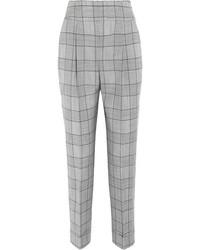 Pantalon slim écossais gris Temperley London